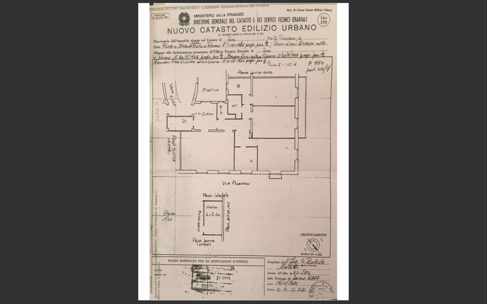 Nuovo Ufficio Catasto Roma : Appartamento in affitto via giuseppe pisanelli roma annunci di